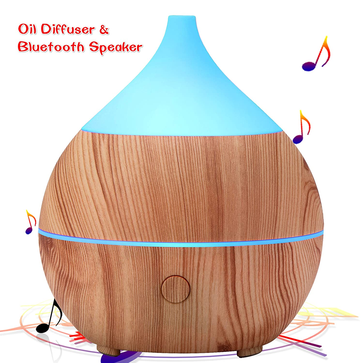 PriBuy Aromatherapy Essential Oil Diffuser with Bluetooth Speaker, Cool Mist Ultrasonic Humidifier, 7 Color LED Lights, Waterless Auto Shut-off, 200mL Diffuser for Office/Home/Bedroom/Baby Room/Yoga Spa. PRIBUY DIFFUSER