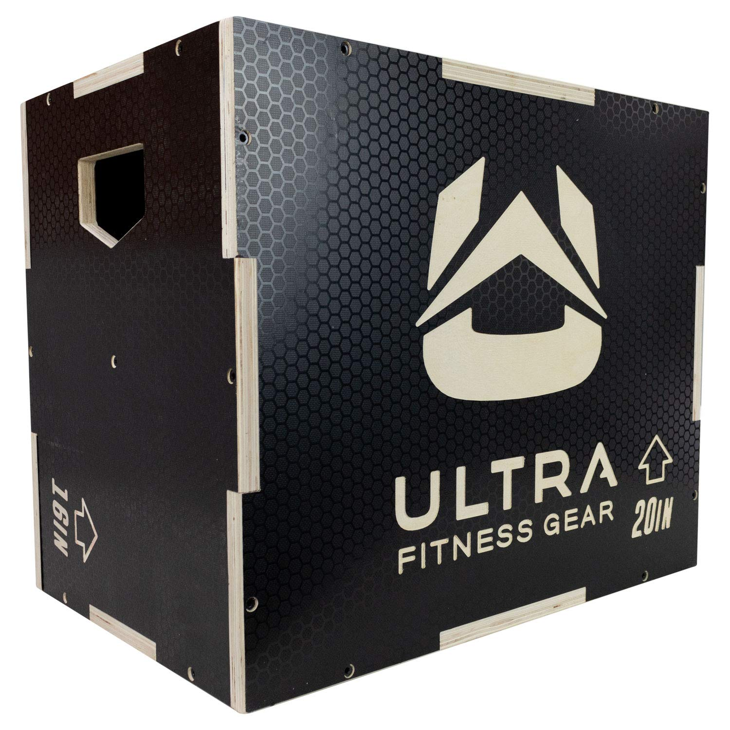 Ultra Fitness Gear 3 in 1 Anti-Slip Wood Plyo Box for Jump, Crossfit, MMA Training. Plyometrics. Sizes: 30/24/20, 24/20/16, 20/18/16, or 16/14/12