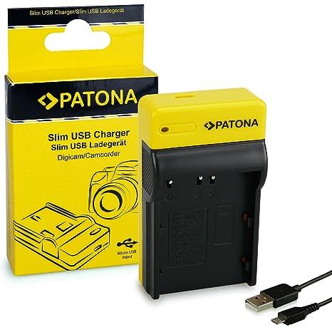 PATONA Estrecho Cargador de Batería para Nikon EN-EL3, Fuji ...