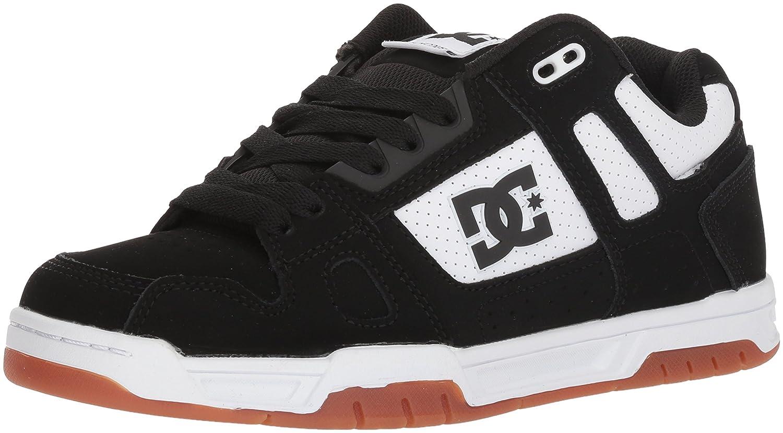 DC Men's Stag Skate schuhe, Weiß schwarz Print, 7 D US