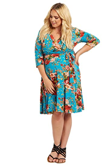 f834ca392c Image Unavailable. Image not available for. Color  PinkBlush Maternity Jade  Floral Draped Plus Size Dress ...