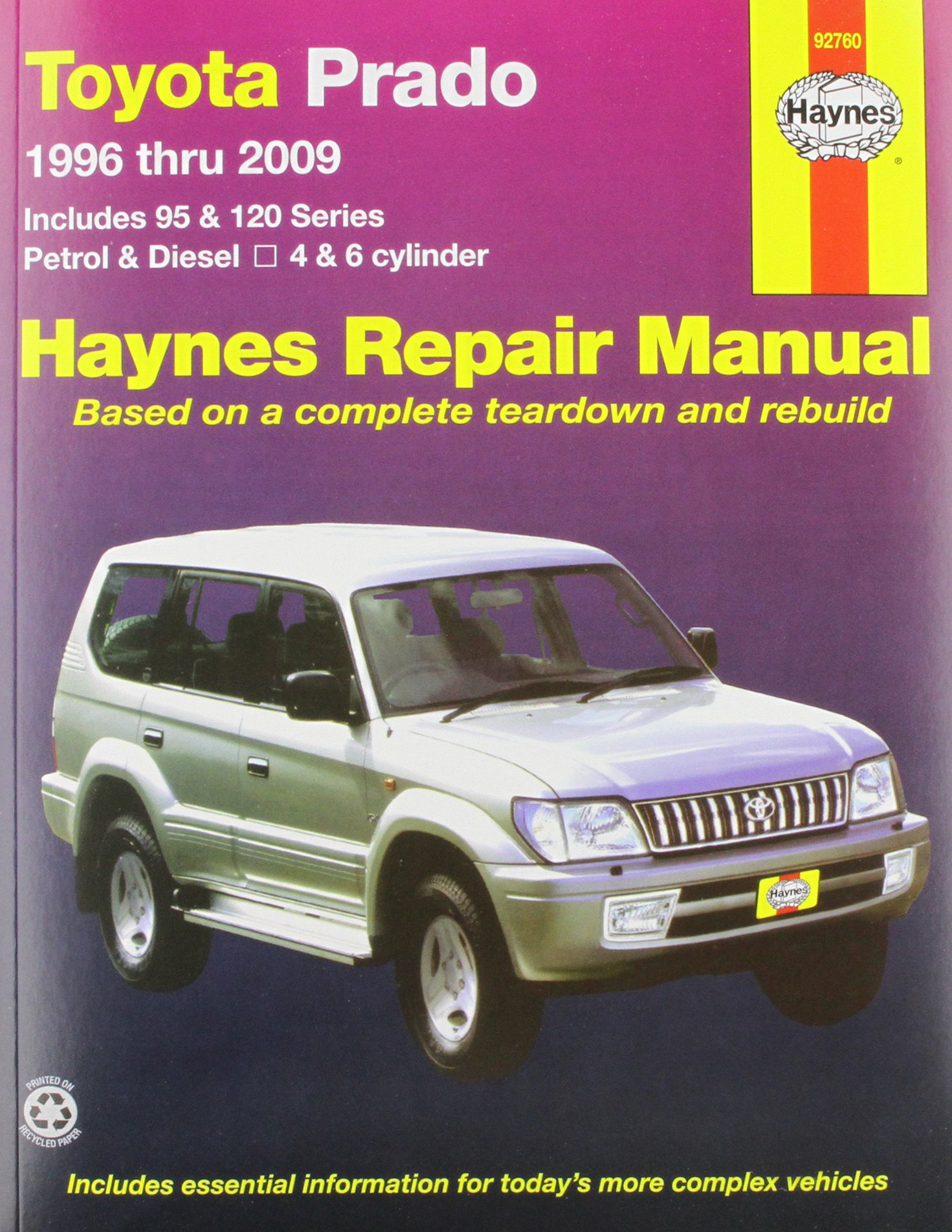 Toyota Prado (96 - 09) (Haynes Service and Repair Manu): Amazon.co.uk:  Haynes Publishing: 9781563928215: Books