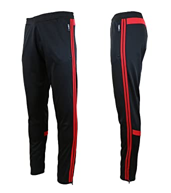 a8b4e3c716a139 Image Unavailable. Image not available for. Color: Galaxy by Harvic Mens Athletic  Soccer Training Sweat Track Pants