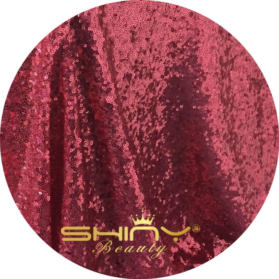 ShinyBeauty Aisle Runner Carpet-4FTX40FT-Fuchsia,Personalized Rustic Sequin Fabric Carpert Runner,Sparkle Aisle Runner For Wedding Outdoor by ShinyBeauty