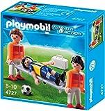 Playmobil 4727 - Jeu de construction - Secouristes et joueur blessé