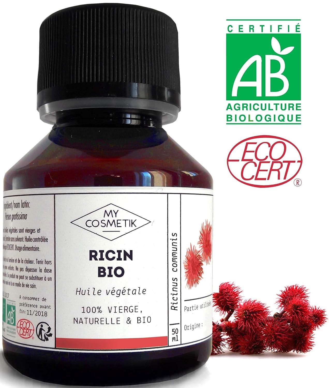 Aceite vegetal de Ricino orgánico - MyCosmetik - 10 ml ...