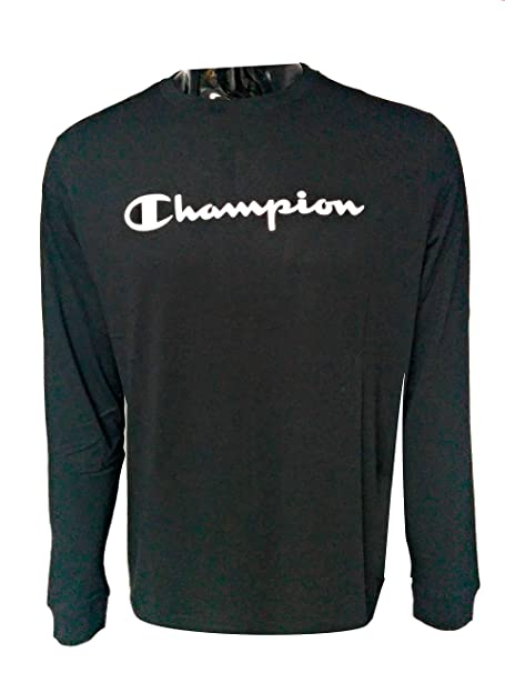 Champion Camiseta Manga Larga Hombre Negra (S)