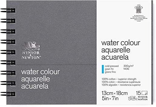 Winsor /& Newton Professional Watercolor Paper Journal Cold Pressed 140lb 5x7 White
