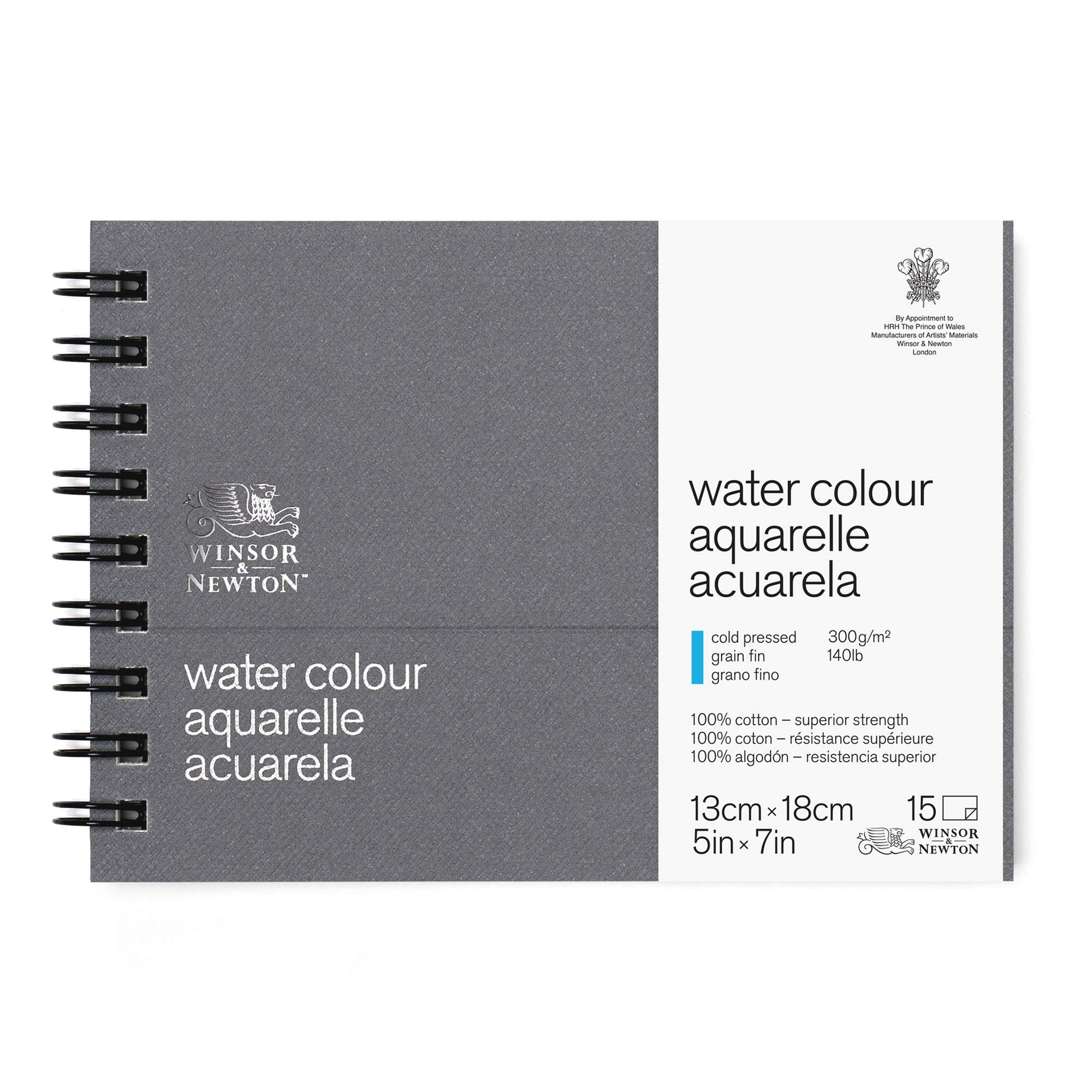 Winsor & Newton Professional Watercolor Paper Journal, Cold Pressed 140lb, 5x7, White by Winsor & Newton