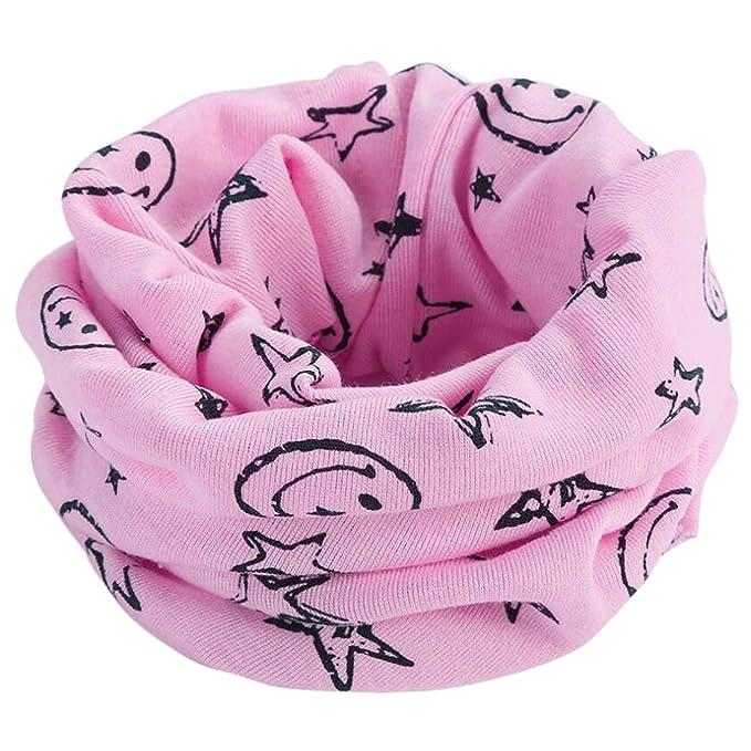 Beaii invierno Niños niñas collar del bebé bufanda de algodón Cuello  redondo Bufandas (talla única 6b4f7b28100