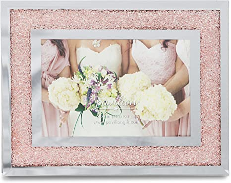 Amazon Com Pavilion Gift Company Glorious Occasions Pink Crystal Wedding Bridesmaids Picture Frame 6 X 4 Peach