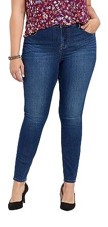 8b8cd3728 maurices High Rise Skinny Jean - Plus Size Everflex Women's Stretch Medium  Wash