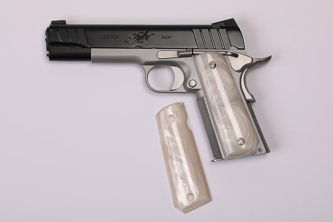 Amazon.com: FZ Custom Grips 1911 tamaño completo blanco ...