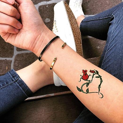 Tatuaje Temporal de Corazón rosa (2 Piezas) - www.ohmytat.com ...