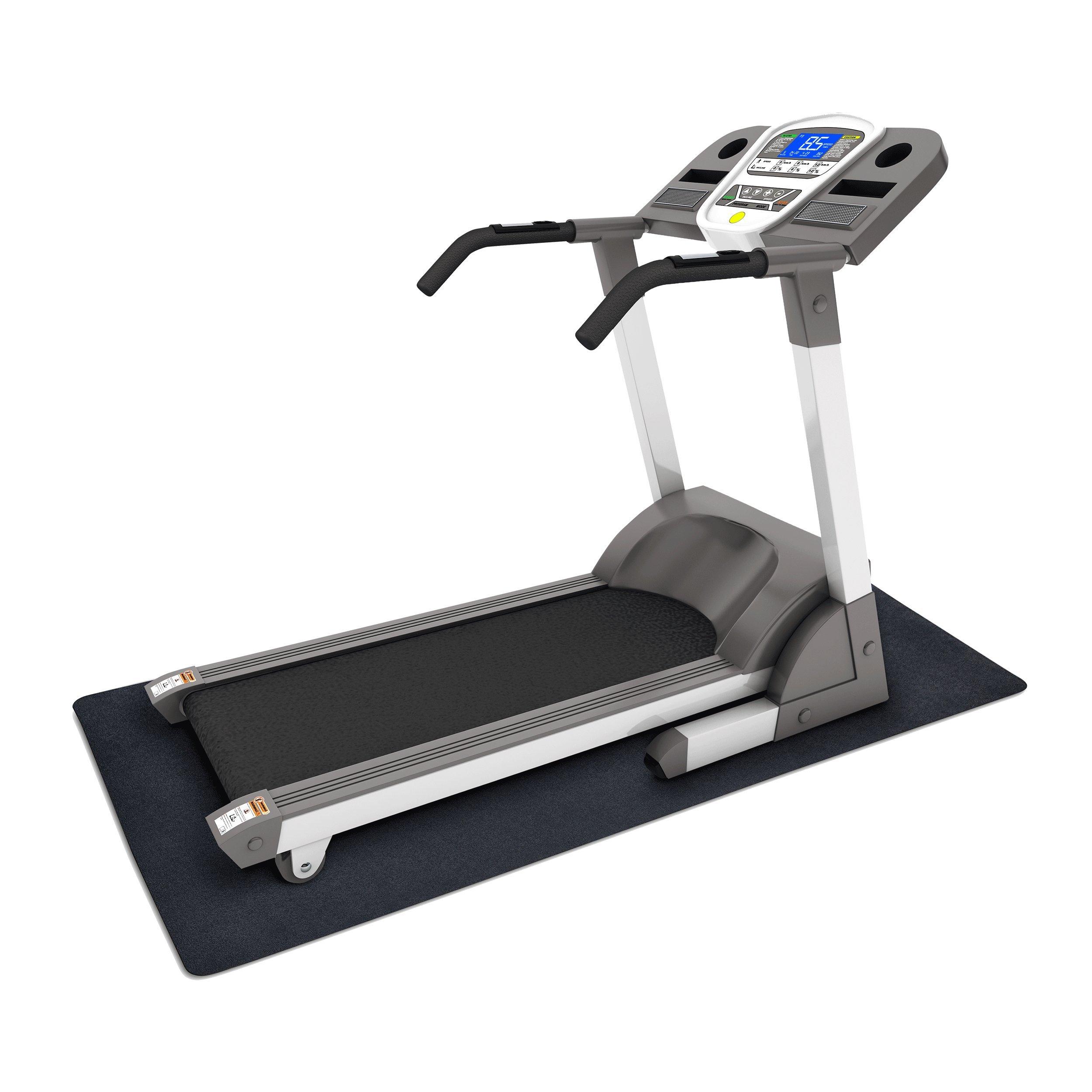 MotionTex 8M-110-36C-6 Fitness Equipment Mat, 36'' x 72'', Black