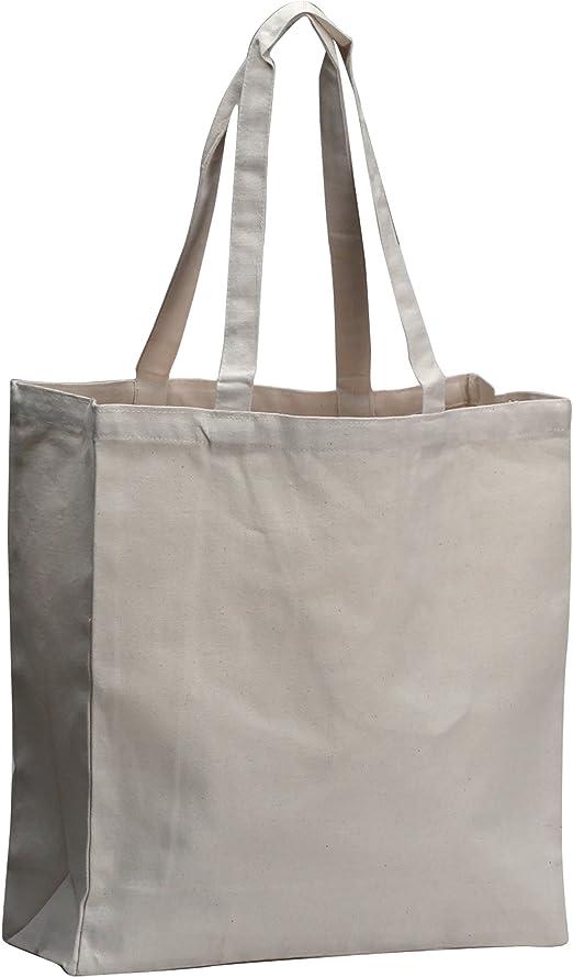 Algodón bolsa de tela, mercado, 100% algodón reutilizable bolso ...