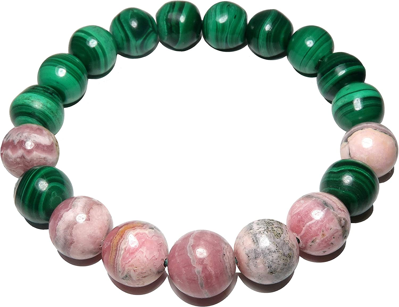 elastic bracelet Natural rhodochrosite bracelet healing crystals and stones rhodochrosite jewelry pink rhodochrosite crystal
