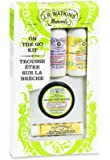 J.R. Watkins Skin Care Gift Set, On The Go, Hand & Body Lotion/Hand & Cuticle Salve/Lip Balm, (Pack of 4)