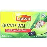 Lipton Tea Bag Green Tea Superfruit Acai, Dragonfruit and Melon, 20 Count Package