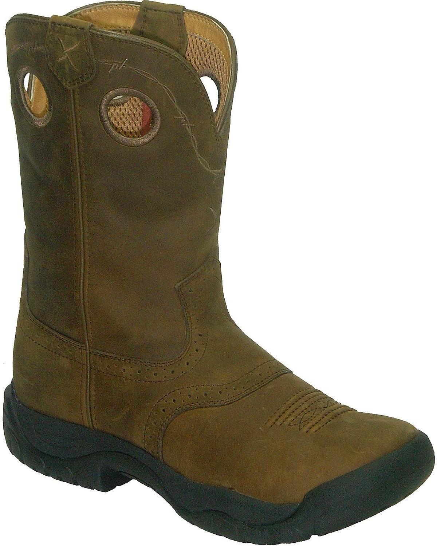 Twisted X Ladies All Around Sq Distress Boots B004W261OQ 6 B(M) US|Distressed Saddle