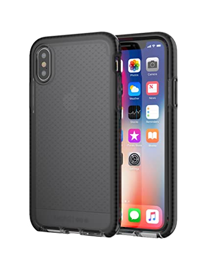 big sale fcdb0 85c27 tech21 - Evo Check Case for iPhone X - Smokey/Black
