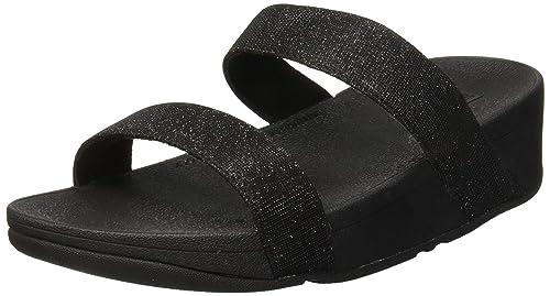 ee92142fc66 Fitflop Lottie Glitzy, Women's Open Toe Heel Sandals, Black (Black 001),