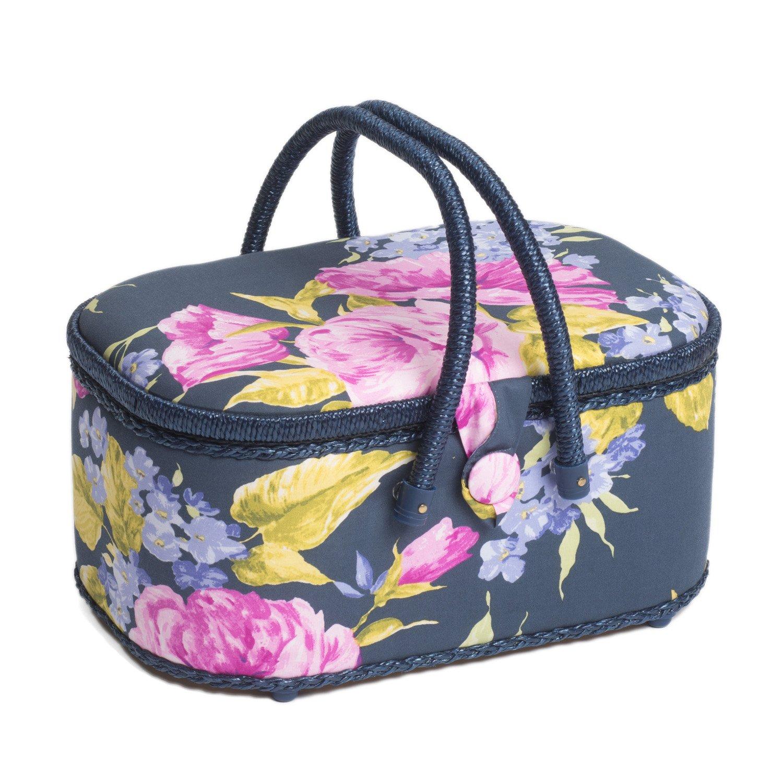 Hobby Gift HGLO/248 | Veranda Print Large Oval Sewing Box | 22½x32½x18cm Groves