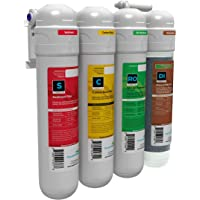 AQUATICLIFE Reverse Osmosis Water Filtration Unit, 4 Stage Twist-in 75 GPD, Deionization Water Filter