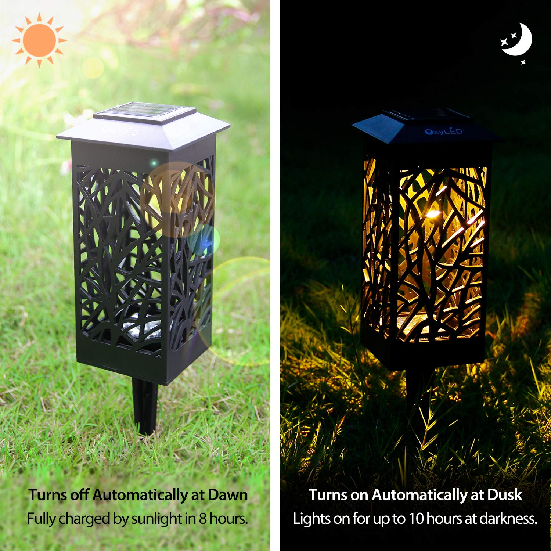 Amazon OxyLED Solar Powered LED Garden Pathway Lights Ideal