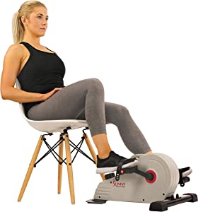 Sunny Health & Fitness Under Desk Bike Pedal Exerciser, Desk Elliptical Mini Bike with 8 Levels of Frictionless Magnetic Resistance - SF-B0891