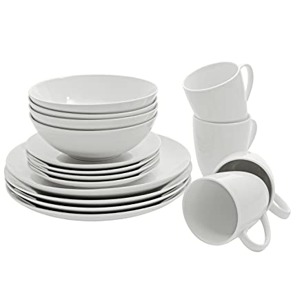 SM-1600-CP-W 10 Strawberry Street Coupe Dinnerware Set White  sc 1 st  Amazon.com & Amazon.com | SM-1600-CP-W 10 Strawberry Street Coupe Dinnerware ...