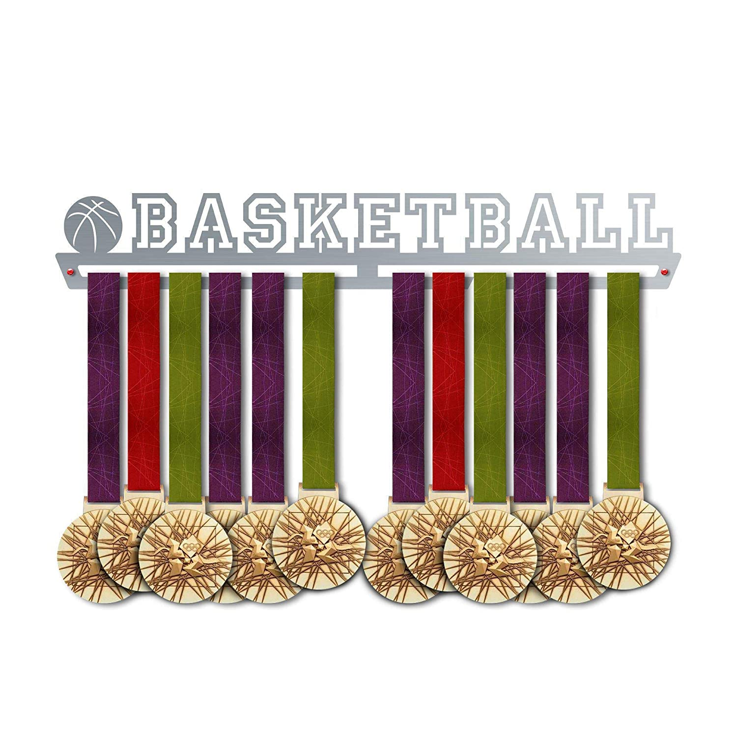 VICTORY HANGERS Basketball Medal Hanger Display