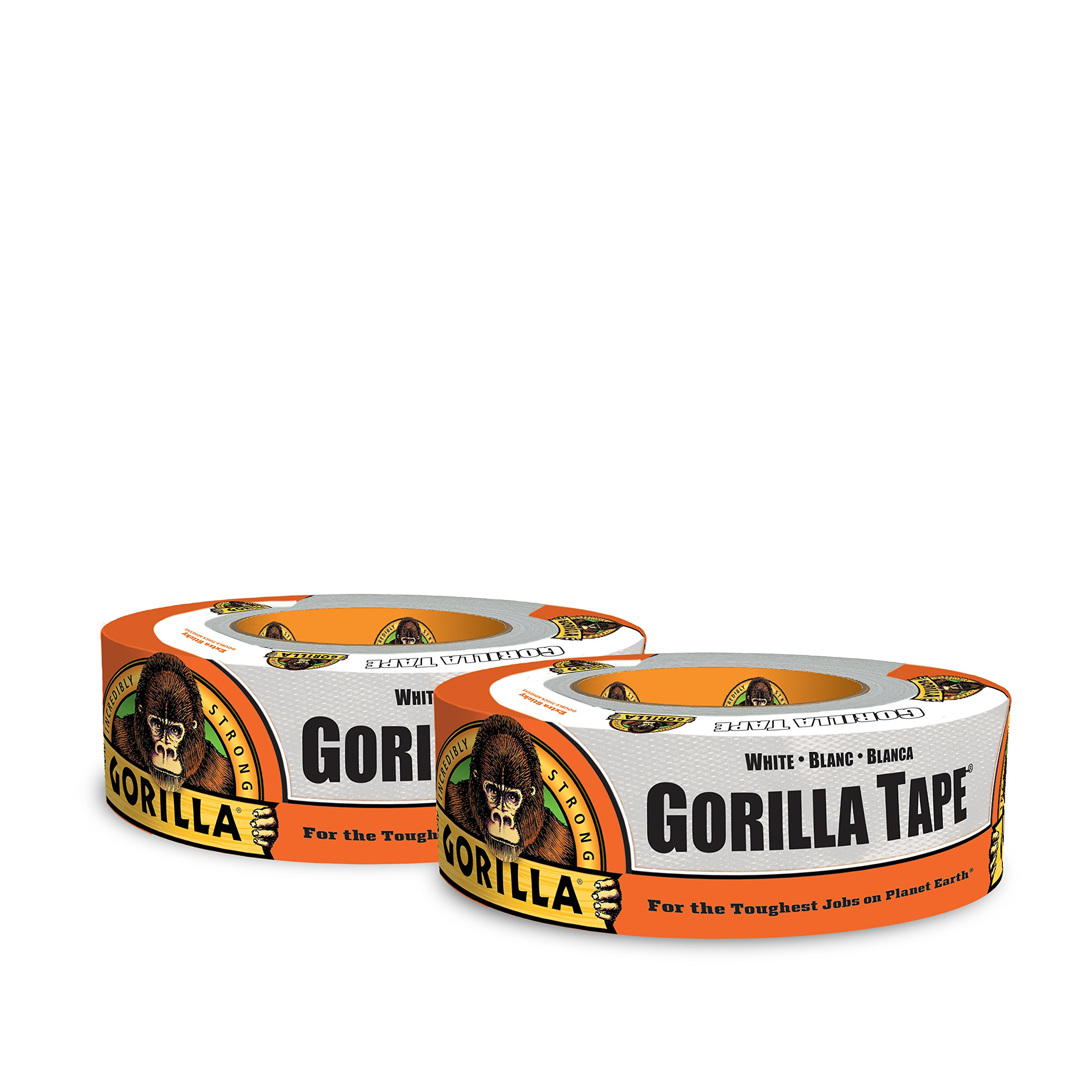 Gorilla 6025001-2 Duct Tape (2 Pack), 1.88'' x 30 yd, White by Gorilla