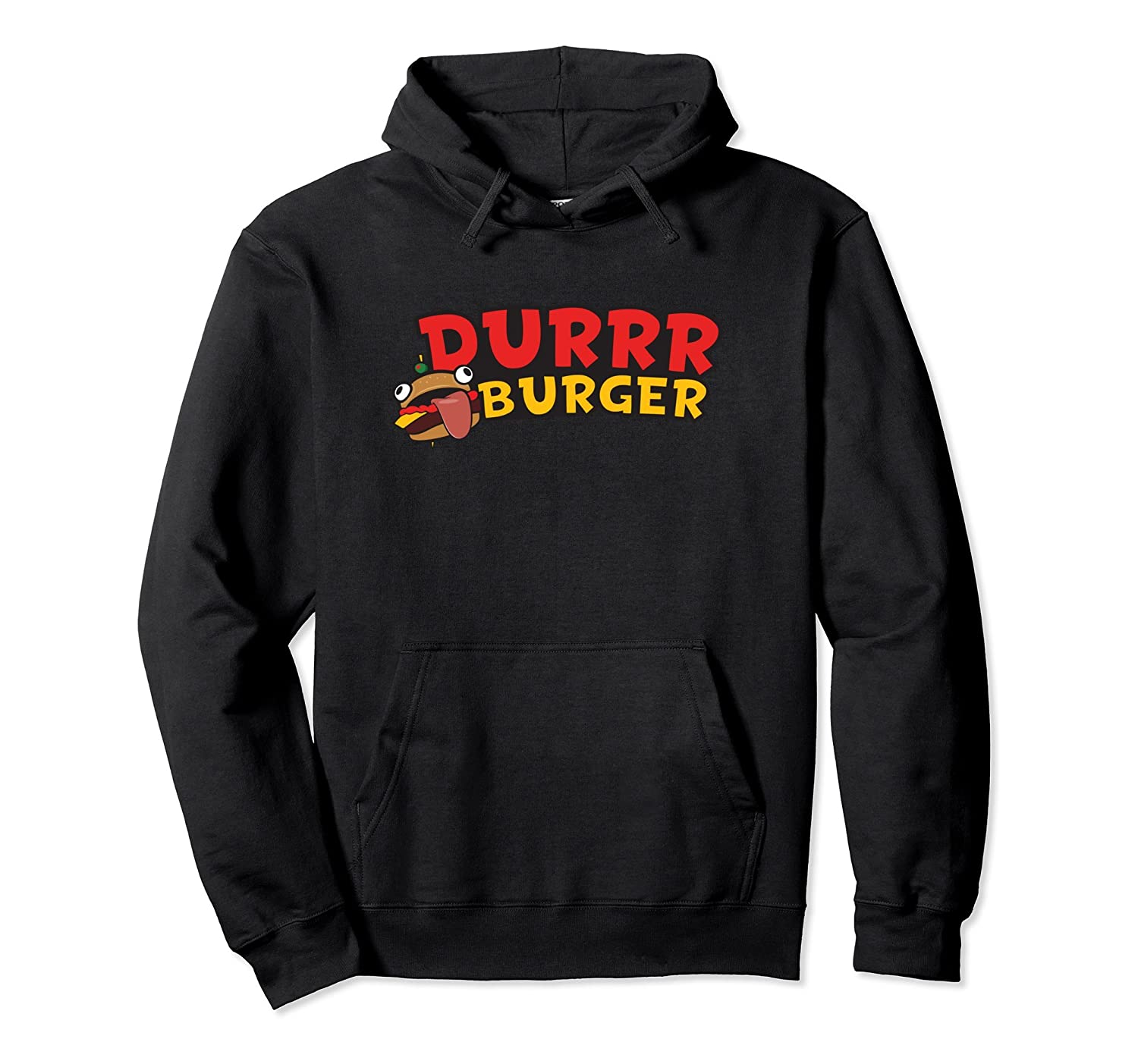 Funny Durrr Burger Lover Video Gamer Hoodie-mt