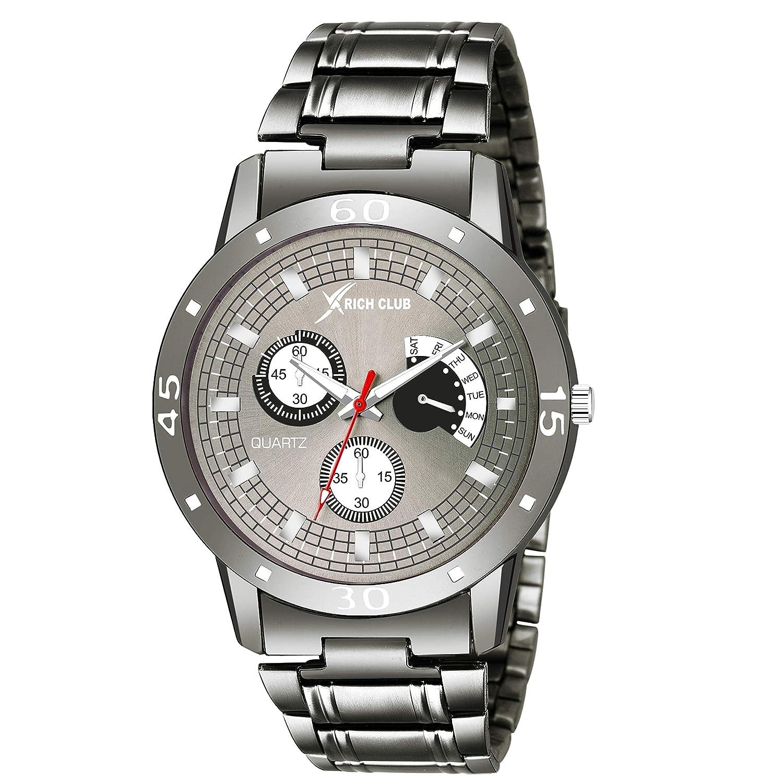 Rich Club RC-5053 Metallic Grey High Quality Casual Watch