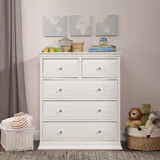 M4422W DaVinci Signature 4 Drawer Tall Dresser White