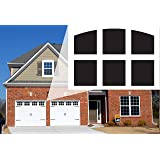 Garage Door Window Magnets by Jones Mountain Decorative Faux Magnetic Window Decals Made in The USA 2-Car Metal Garage Doors