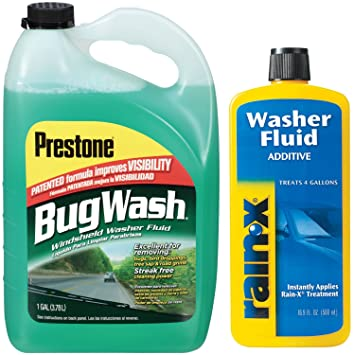 prestone Bug Remover Windshield Washer Fluid con arandela RAIN-X ...