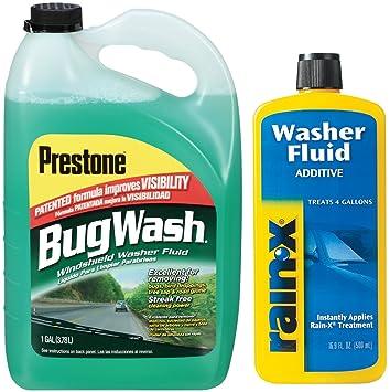 prestone Bug Remover Windshield Washer Fluid con arandela RAIN-X aditivo Fluido: Amazon.es: Coche y moto