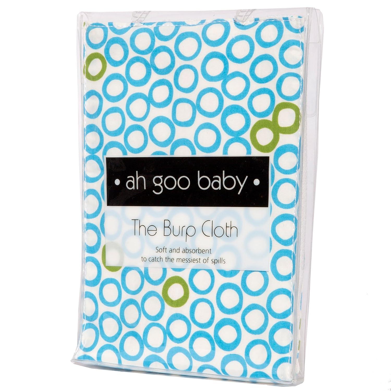 Black//Brown Ah Goo Baby Burp Cloth 1-Pack Earth