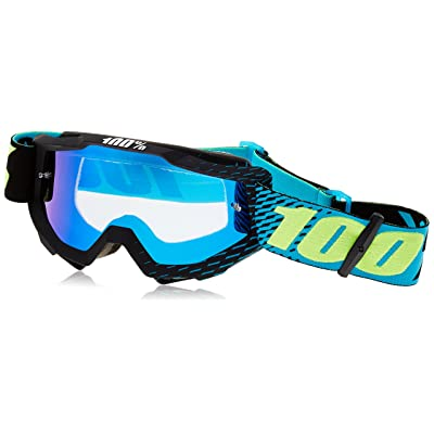 100% 50210-201-02 Unisex-Adult R-Core Accuri Goggles With Mirrored Lens (Cyan,One Size Fits Most)