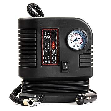 Minicompresor de aire para neumáticos de 12 V, gama de calidad, para emergencias en coche o bicicleta hasta 250 PSI: Amazon.es: Coche y moto