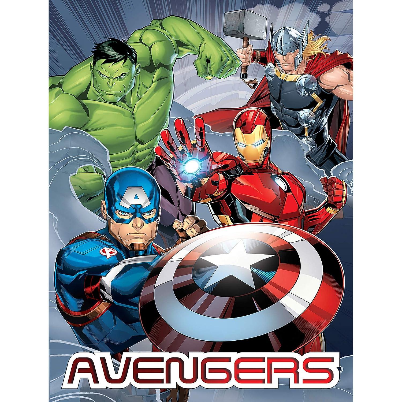 Kinderbettausstattung Bettwäsche Marvel Decke Avengers Team 150 X