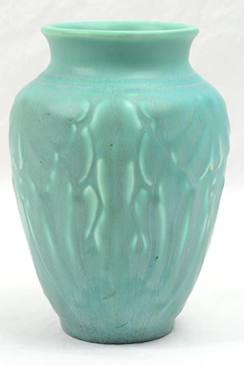 Amazon Rookwood Pottery Vase 1938 Matt Green Lotus Moth Vase