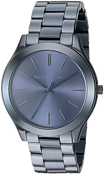 0bfc435b63590 Buy Michael Kors Women s Slim Runway Blue Watch MK3419 Online at Low ...