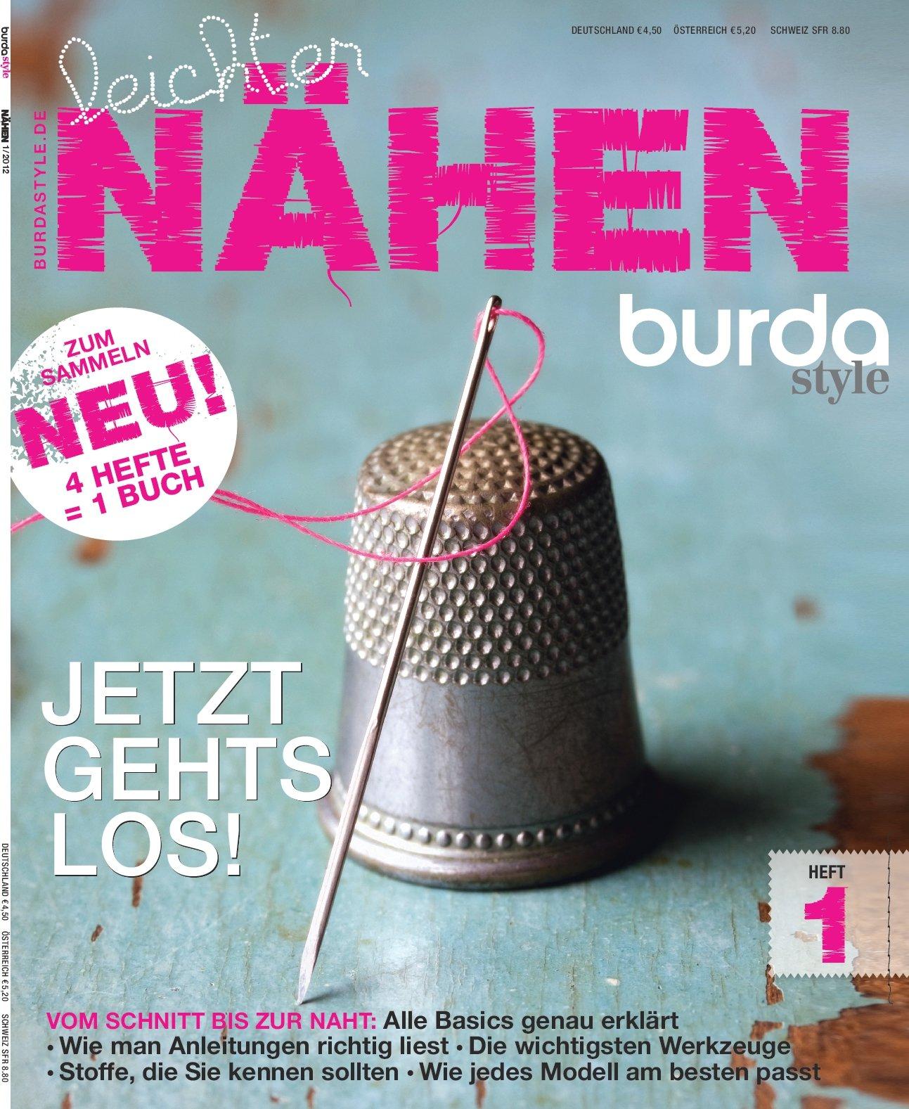 Burda leichter Nähen Heft 1/4 Nähmagazin burda style