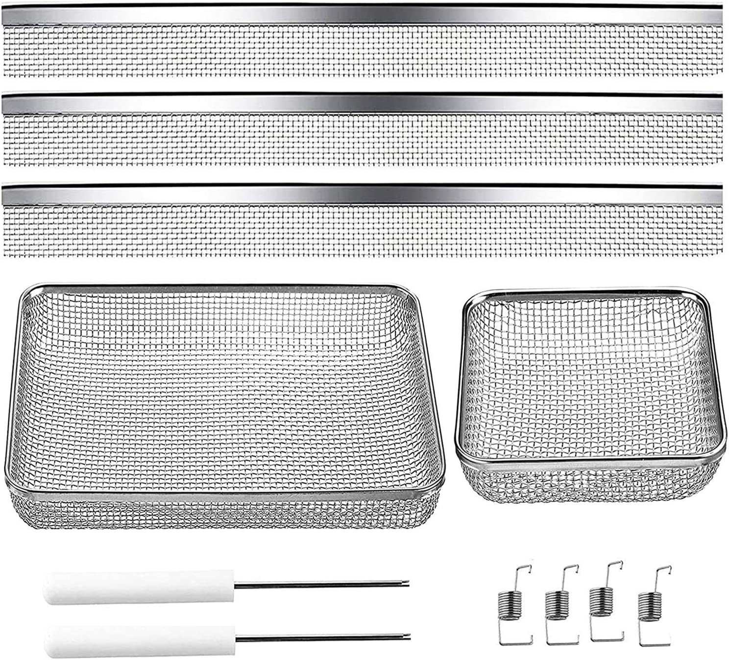 """wadoy RV Furnace Bug Screen for Camper Vents,Flying Insect Screen for RV Refrigerator Vents, RV Water Heater Screen 19-3/4"""" x 1-5/16"""" & 4.5"""" x 4.5"""" x 1.3'' & 8.5"""" x 6"""" x 1.3"""""""