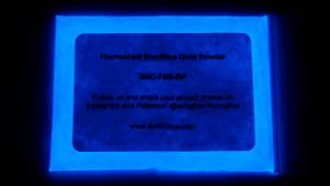 Glow in The Dark Pigment Powder - 12g - Neutral and Fluorescent Colors (Fluorescent Blue)