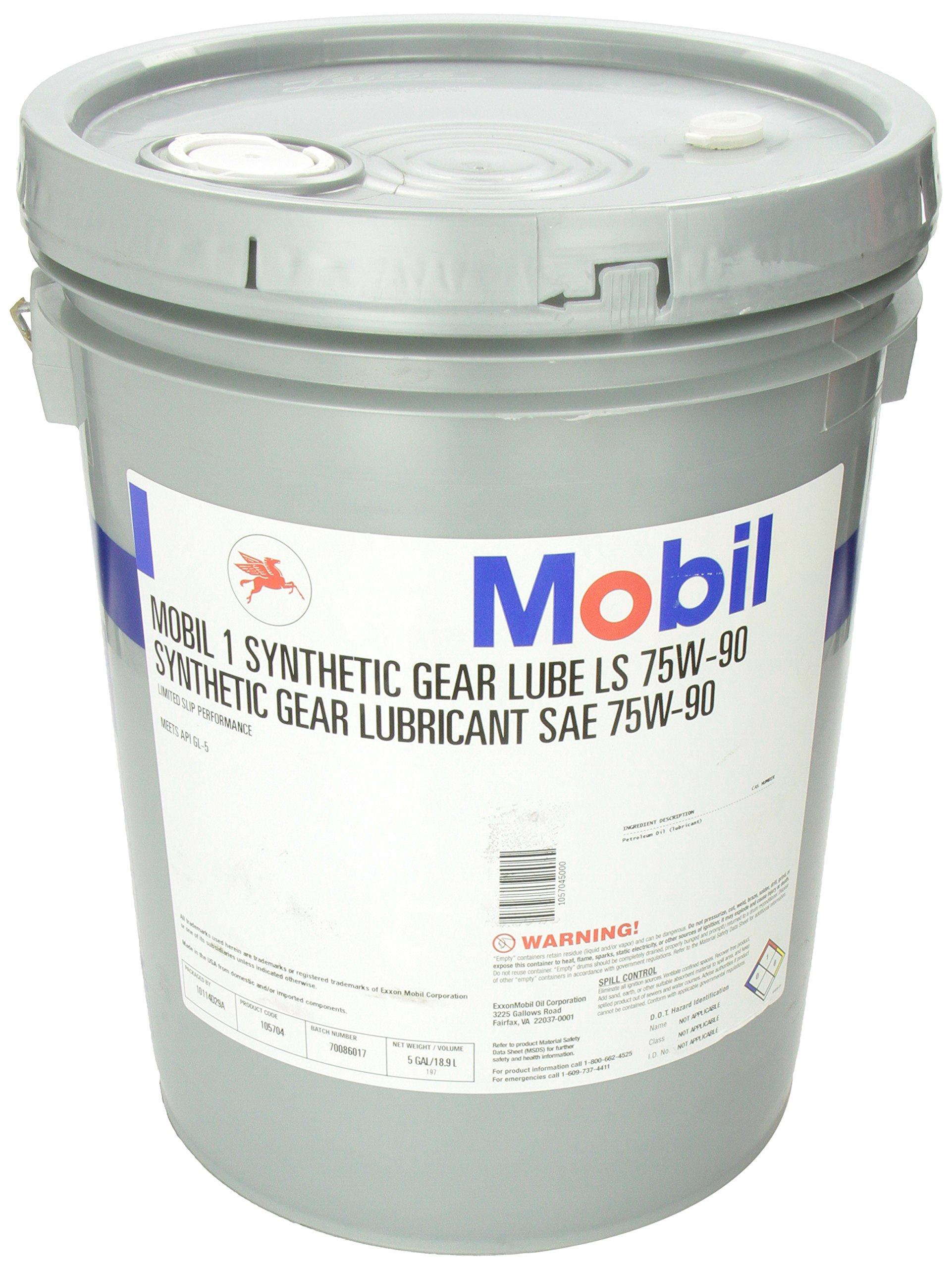 Mobil 1 105704 75W-90 Gear Lube - 5 Gallon Jug