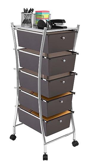 Internetu0027s Best 5 Tier Rolling Cart Organizer | 5 Large Drawers | Classroom  Teaching,
